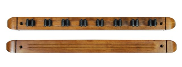 Cue Rack Only - 8 Pool - Billiard Stick - Wall Rack - Holder Oak Finish
